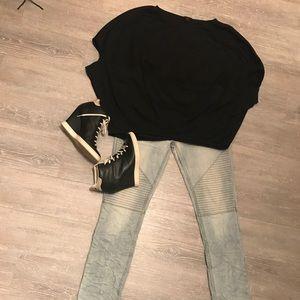 COS rayon black blouse